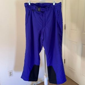 Men's Lands End snaw/snowboard pants 38 Regular in purple inseam 26 inches